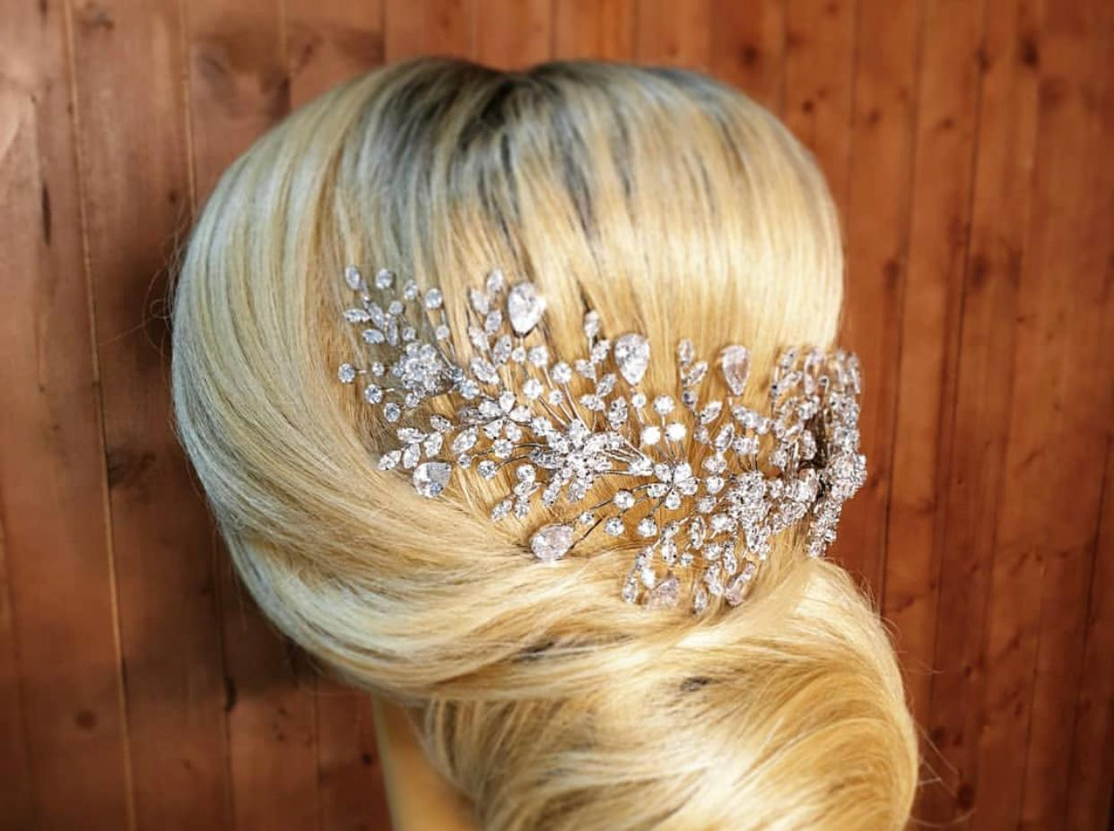 AMOUR Swarovski Hair Comb, Wedding Headpiece