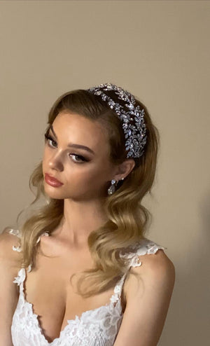 MAELLE Luxurious Swarovski Bridal Headpiece