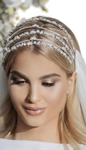 ESTELLE Luxurious Swarovski Bridal Headpiece