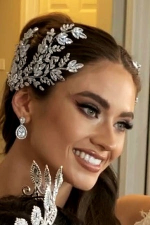 MISCHA Swarovski Bridal Hair Comb, Swarovski Hair Wings