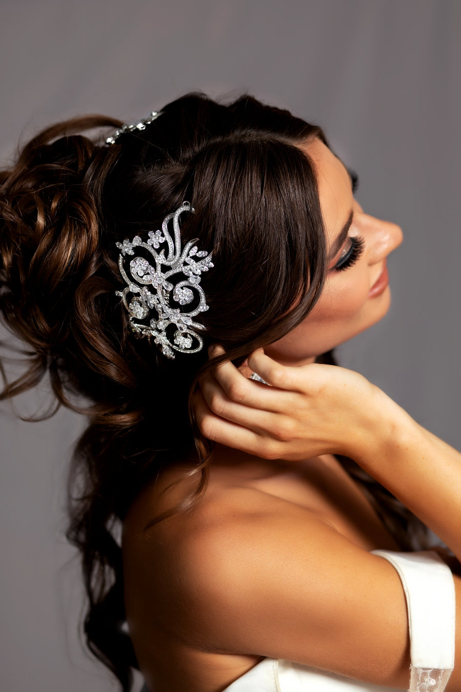VIVIANA Swarovski Hair Comb, Wedding Headpiece