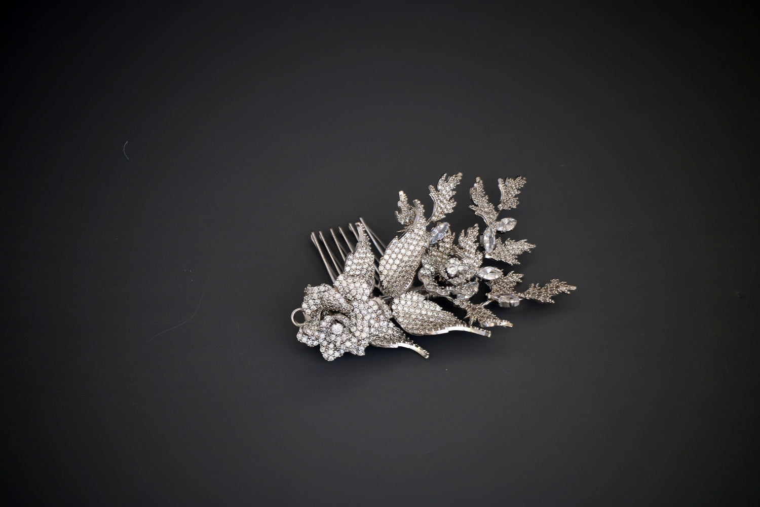 ROSE Bridal Hair Comb with Swarovski & Mirco Cubic Zirconia