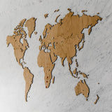 Wooden World Map Exclusive Oak