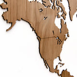 Wooden World Map Exclusive Walnut