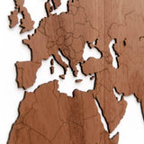 Wooden World Map Exclusive Sapele