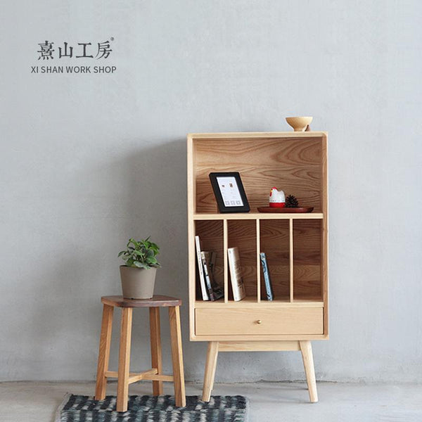 Unit Bookcase High Ash