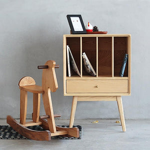 Unit Bookcase Low Cherry wood