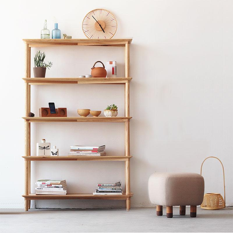 Rise Book Rack Cherry wood