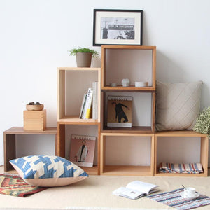 Cube Combination Rack Walnut