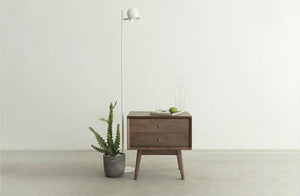 Nordic Bedside Table Walnut