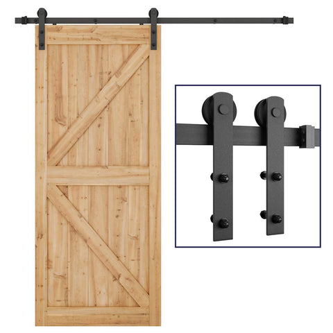 6.6ft  Sliding Barn Door Hardware Kit (I Shape )