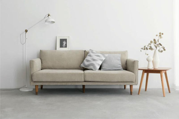 Soft Cotton Sofa – 3 seater Beige