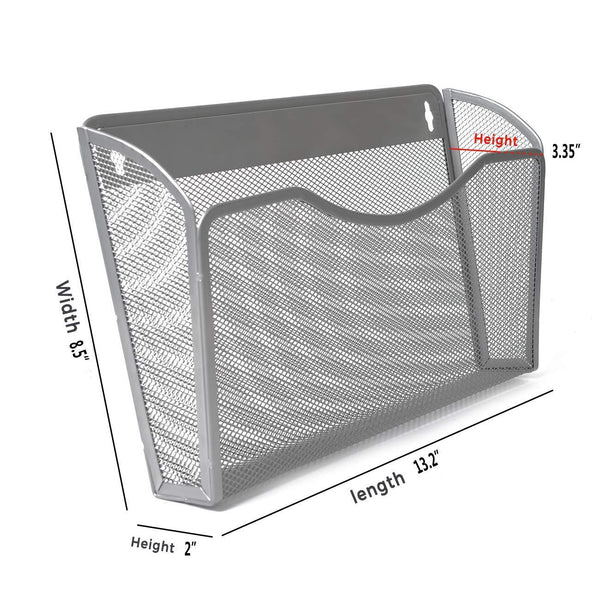 Kinwell Office Hanging Mesh Document Storage Pockets Magazine Rack Wall File Holder