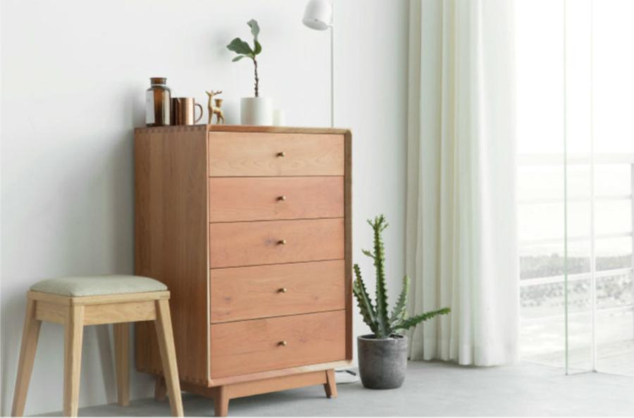 Simple Chest of Drawers – 5 drawers Cherry wood