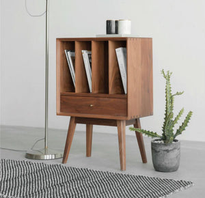 Unit Bookcase Low Walnut
