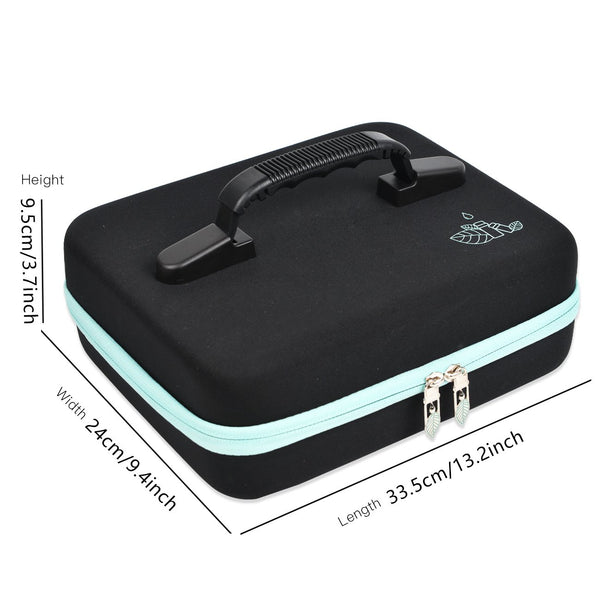 Beschan 42 Holes Essential Oil Box Carrying Case Portable Storage