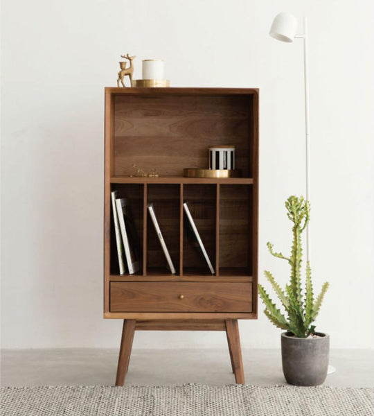 Unit Bookcase High Cherry wood