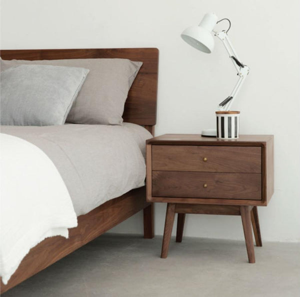 Nordic Bedside Table Cherry Wood
