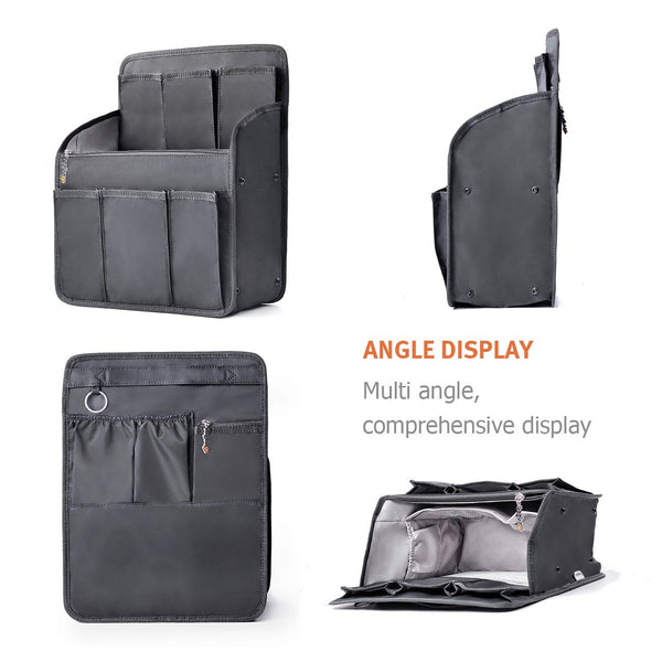 bag in bag Rectangle Backpack Insert Organizer Diaper Shoulders Bag Handbag Organizer