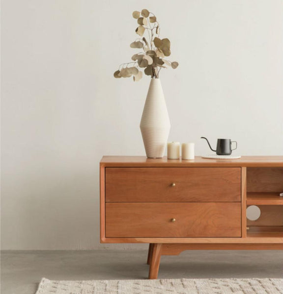 Nordic TV Cupboard Cherry Wood