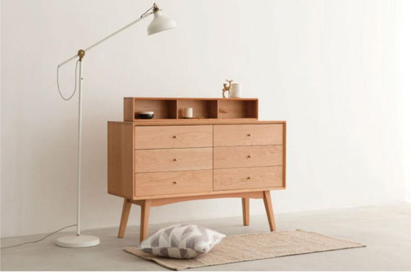 Simple Chest of Drawers Ash 6 drawers