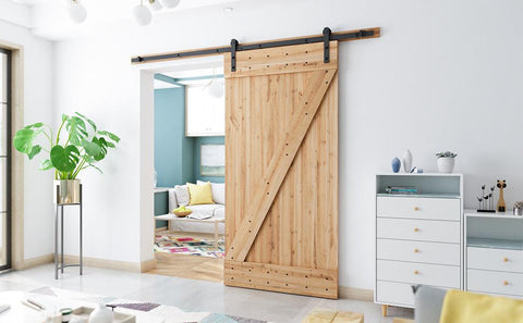 8ft  Sliding Barn Door Hardware Kit (I Shape )