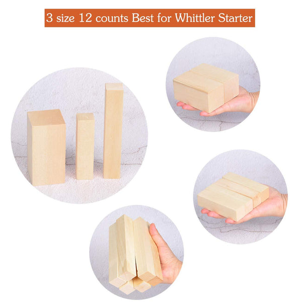 12 Pack Basswood Carving Blocks
