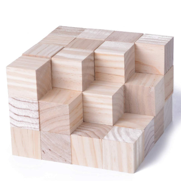 40pcs Solid Wood Craft 1.5inch