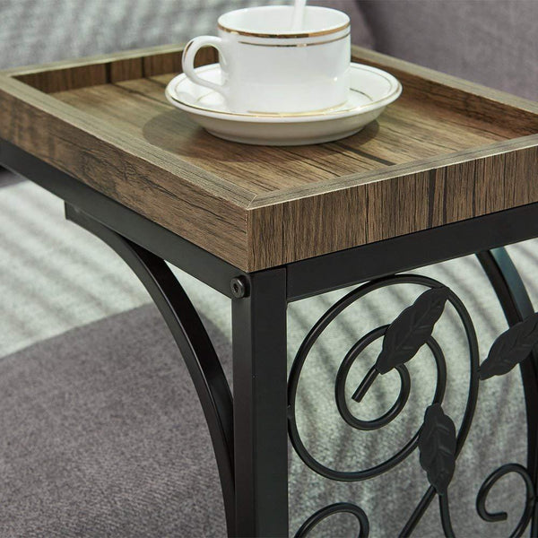 Rustic C Table for Sofa Living Room