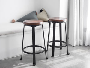 24 Inch Counter Bar Stools, Set Of 2