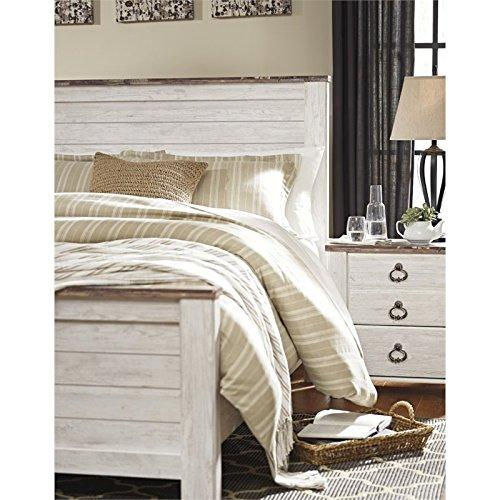 Willowton Queen Panel Bed in Whitewash