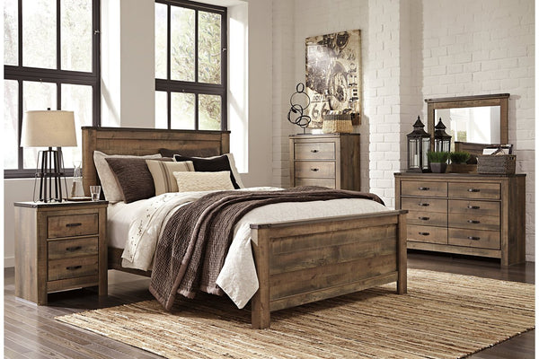 Large vintage wooden bed