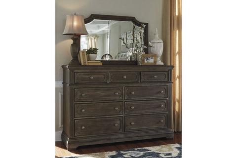 9 Drawers Dresser with Mirror