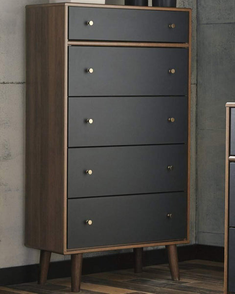 5 Mid Century Modern Chests-of-Drawers