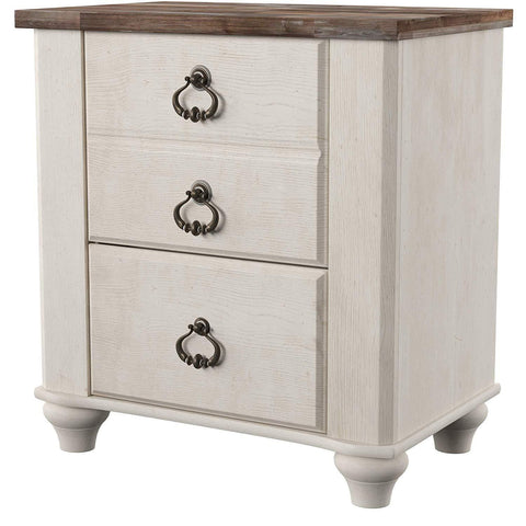 Rustic Farmhouse Style 2 Drawer Nightstand