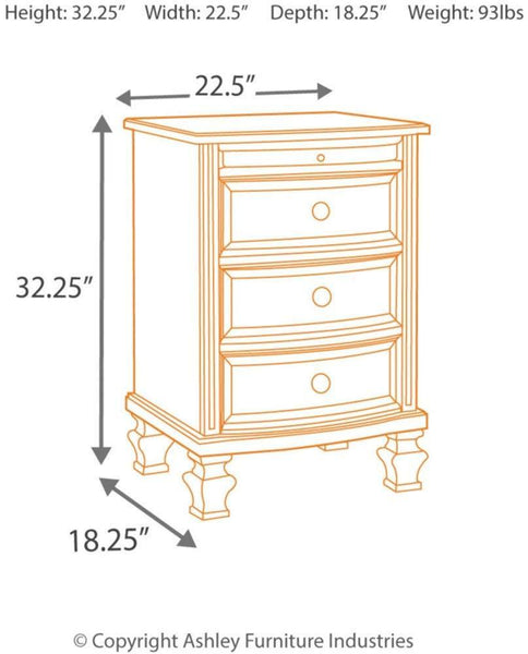 3 Drawers with Pull Out Tray
