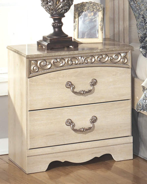 Traditional 2 Drawers Nightstand