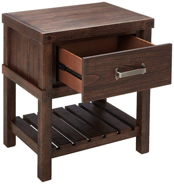 1 Drawer Nightstand with Shelf