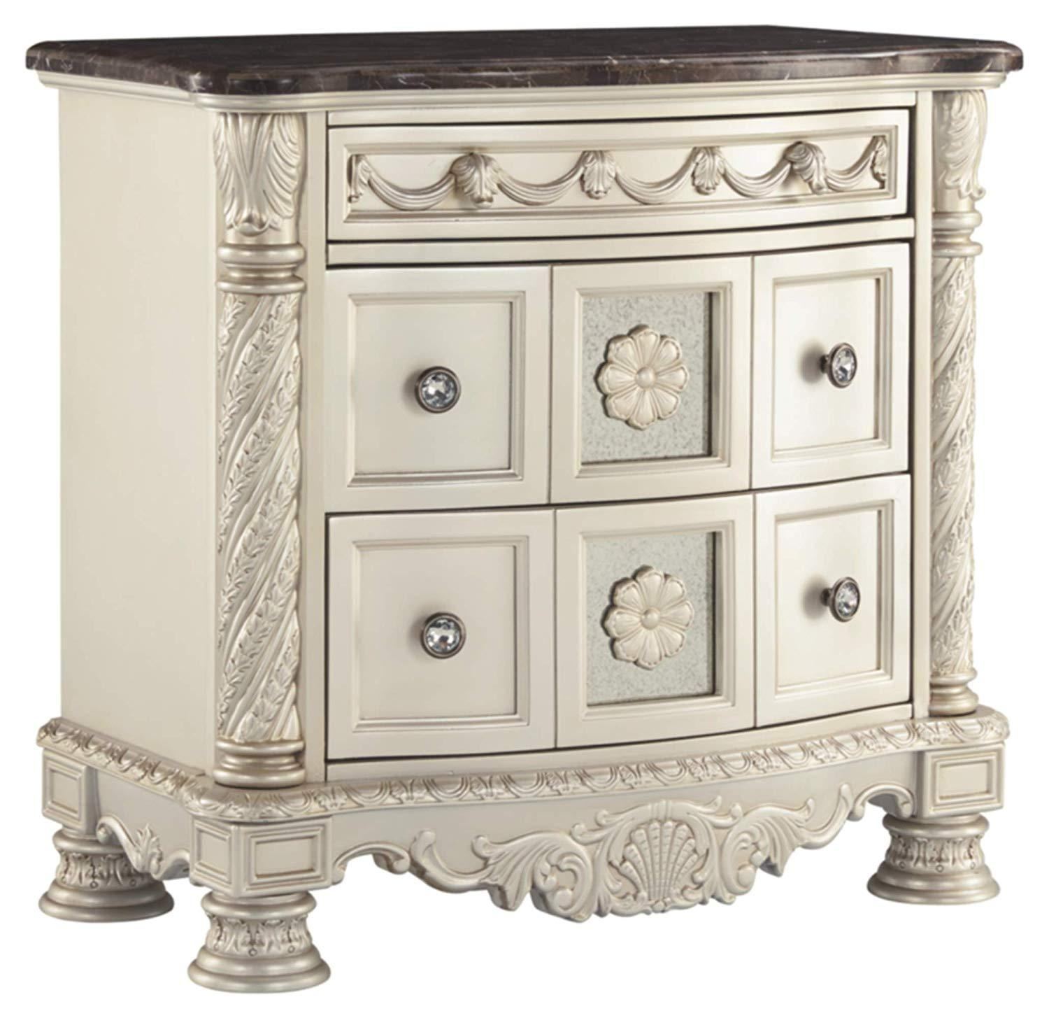 Luxury 3 Drawer Nightstand