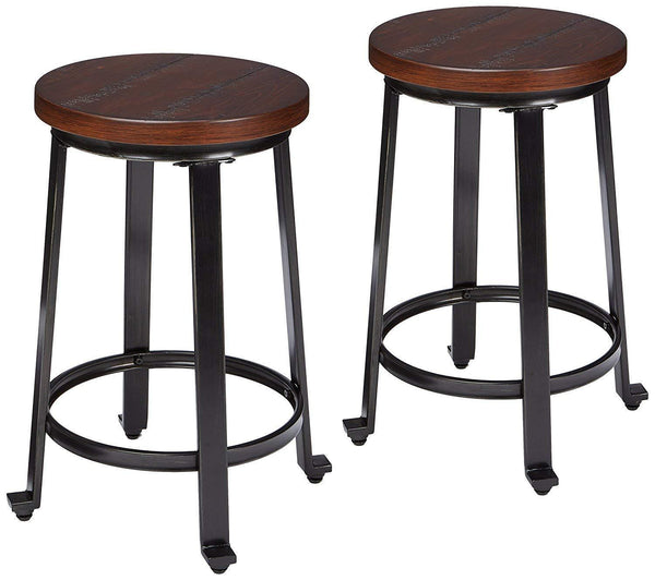 Set of 2 Bar Stool,Rustic Brown