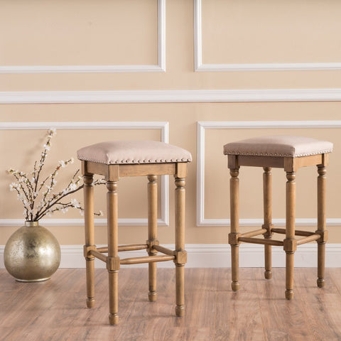 Transitional Style Counter Stool