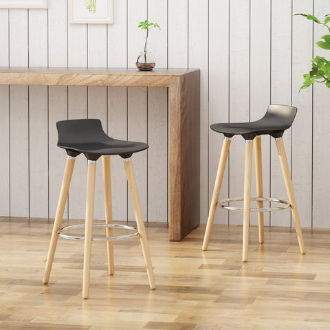Black Bar Stools (Set Of 2)