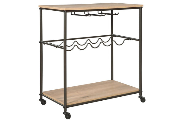 Three-tier bar cart
