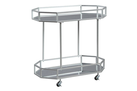 Silver Metal bar cart