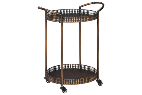 Round Metal bar cart