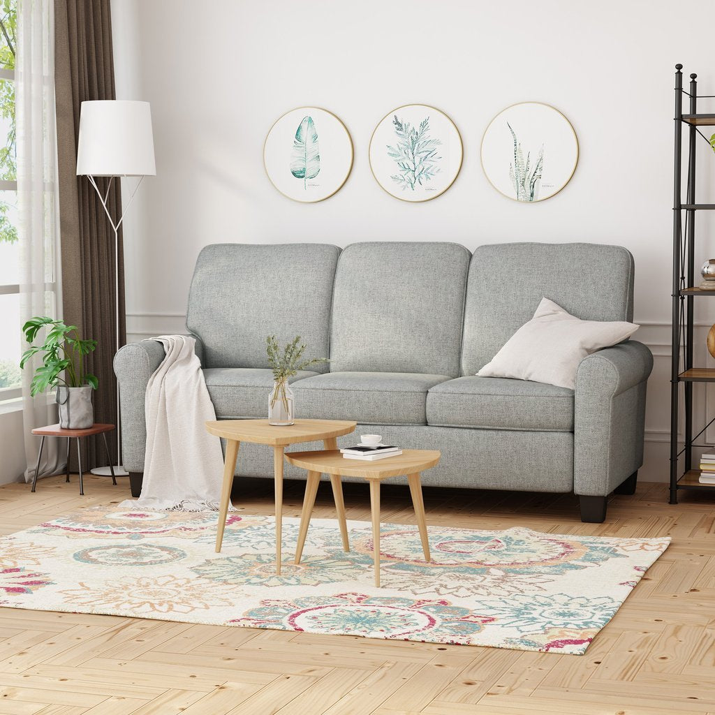 3-Seater Sofa, Traditional-Modern