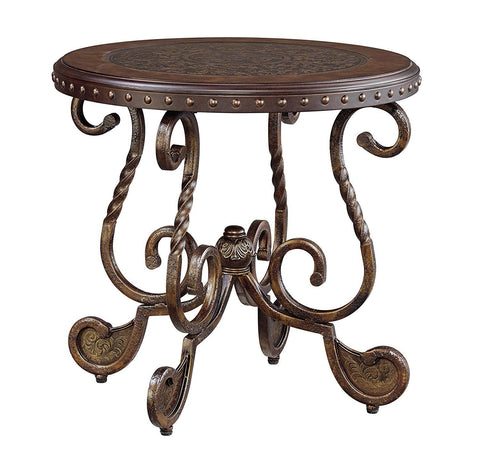 Traditional Circular End Table