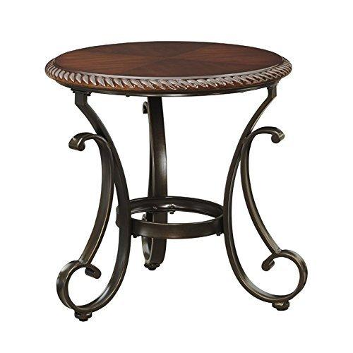 Traditional Cherry Round End Table