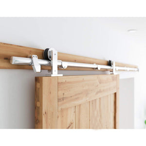 8 FT Sliding Barn Door Hardware Kit Single Rail(T Shape)