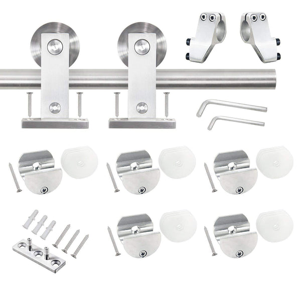 5 FT Sliding Barn Door Hardware Kit Single Rail(T Shape)